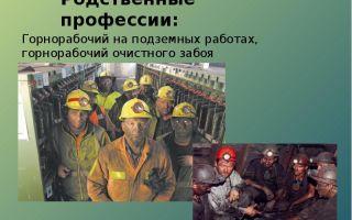 Горнорабочий подземный. описание профессии подземный горнорабочий
