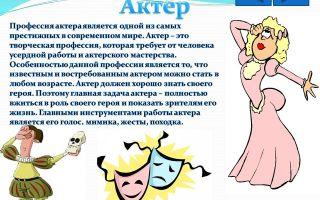 Актер театра. профессия актер. словарь профессий