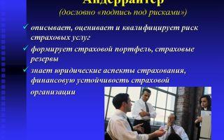 Андеррайтер. профессия андеррайтер. словарь профессий