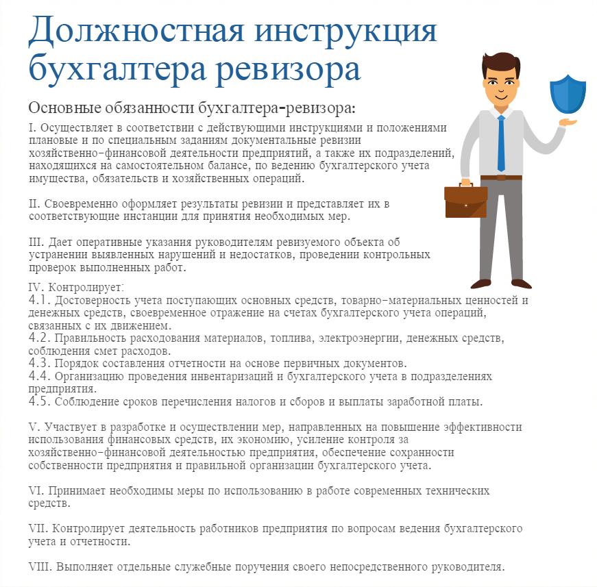 Должностные обязанности бухгалтера в школе доверенность ип бухгалтеру банка